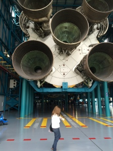 The Saturn V Rocket that transported the Apollo project to the moon. Big. Very, very big.
