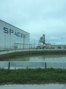 Space X uses some of the facilities at KSC. This is them prepping one of the pads for launch.